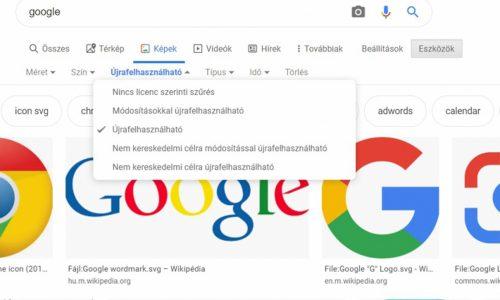 Illusztráció: képernyőfotó a keresési beállításokról